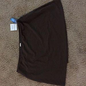 Beautiful Brown Color Swim Bottom Coverup Skirt